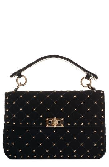 Valentino Garavani Rockstud Quilted Leather Shoulder Bag - Black
