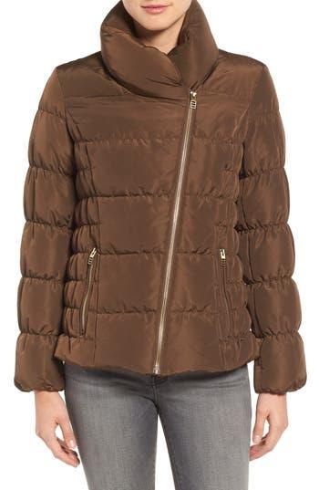 Kenneth Cole Asymmetrical Puffer Jacket, Green