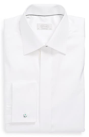Men's Eton Contemporary Fit French Cuff Tuxedo Shirt