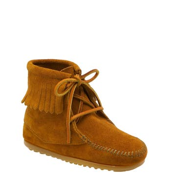 Toddler Girl's Minnetonka Lace-Up Boot