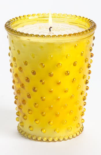 Simpatico Hobnail Glass Candle, Size One Size - Yellow