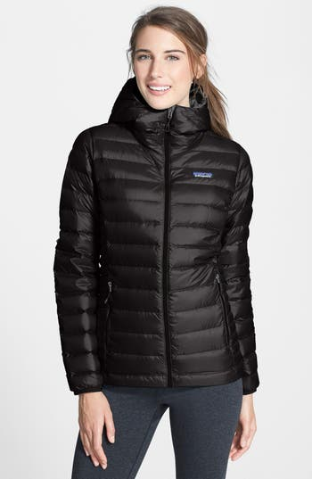 Patagonia Quilted Water Resistant Down Coat, Black