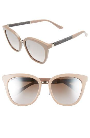 Unique Retro Vintage Style Sunglasses & Eyeglasses Womens Jimmy Choo Fabry 53Mm Sunglasses - Nude $445.00 AT vintagedancer.com
