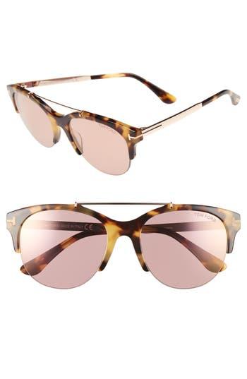 Tom Ford Adrenne 55Mm Sunglasses - Tortoise/ Rose Gold/ Pink