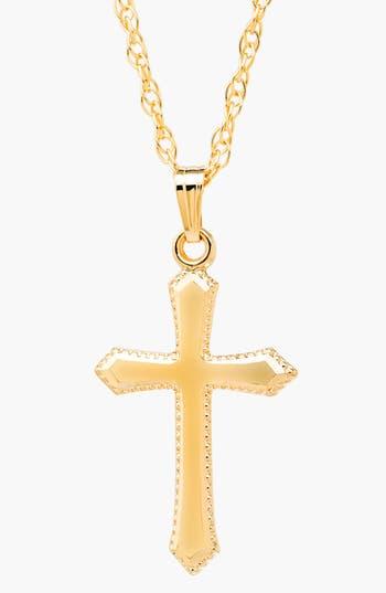 Girl's Mignonette 14K Gold Cross Necklace