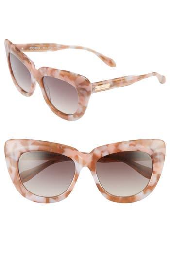 Unique Retro Vintage Style Sunglasses & Eyeglasses Womens Sonix Coco 50Mm Cat Eye Sunglasses - Nude Black Solid $58.80 AT vintagedancer.com