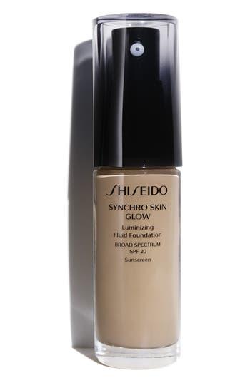 Shiseido Synchro Skin Glow Luminizing Fluid Foundation Broad Spectrum Spf 30 - N4
