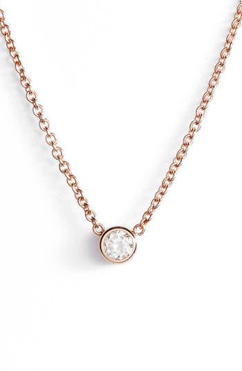 Zoe Chicco Diamond Bezel Pendant Necklace