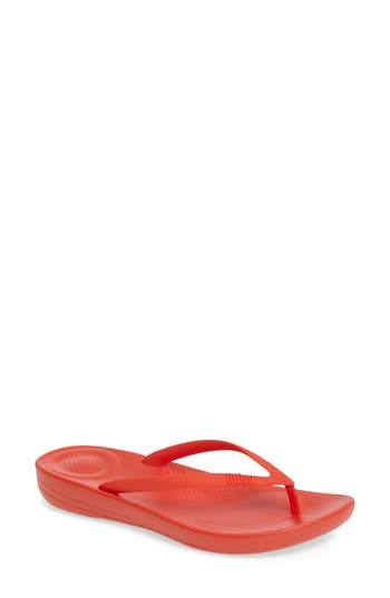 Women's Fitflop Iqushion Flip Flop, Size 7 M - Orange