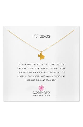 Women's Dogeared I Heart Texas Pendant Necklace