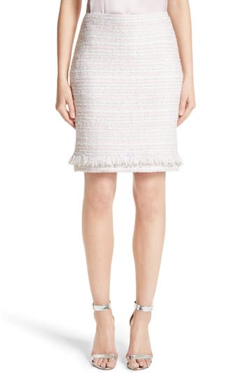 Women's St. John Collection Padmesh Tweed Knit Skirt