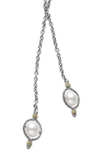 Women's Lagos Luna Pearl Lariat Necklace