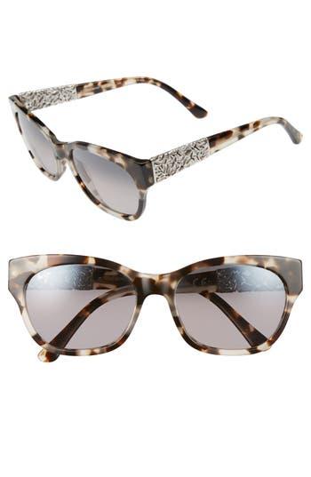 Maui Jim Monstera Leaf 57Mm Polarized Sunglasses - White Tokyo