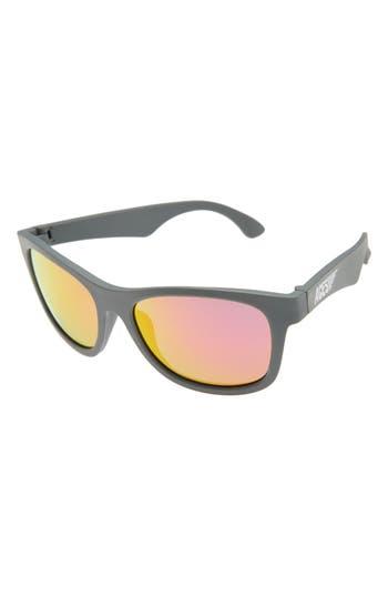 Kid's Babiators Aces Navigator Sunglasses - Galactic Gray/ Pink