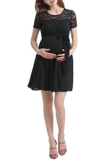 Women's Kimi And Kai Misha Lace Trim Maternity Dress