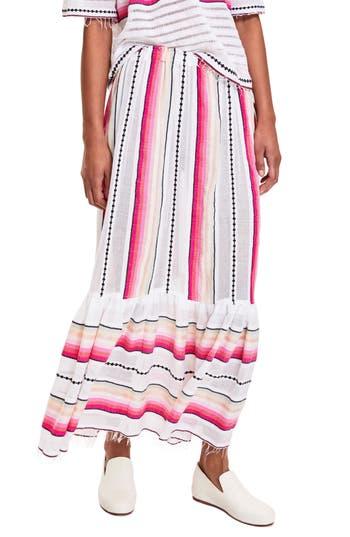 Women's Lemlem Adia Convertible Cover-Up Skirt, Size Medium - White