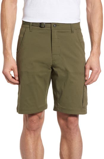 Prana Zion Water Repellent Hiking Shorts, Green
