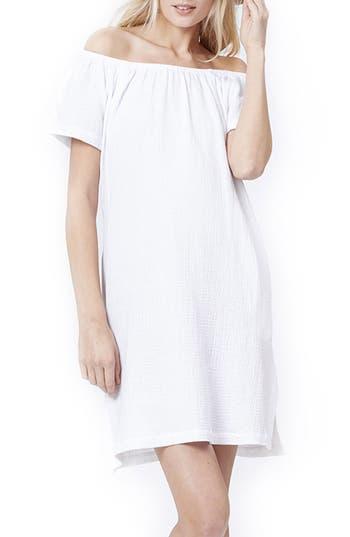 Loyal Hana Ariel Off The Shoulder Maternity/nursing Dress, White