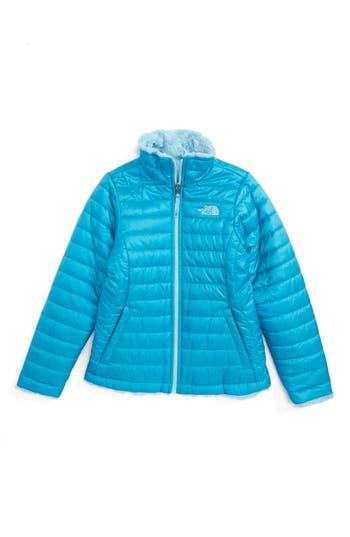 Girl's The North Face Mossbud Reversible Heatseeker™ Wind Resistant Jacket