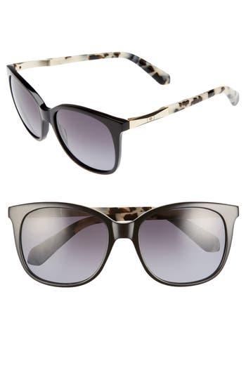 Women's Kate Spade New York Julieanna 54Mm Polarized Sunglasses - Black Havana