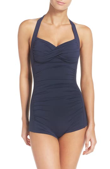 Women's Seafolly One-Piece Swimsuit, Size 6 US / 10 AU - Blue