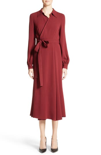 Co CREPE MIDI WRAP DRESS