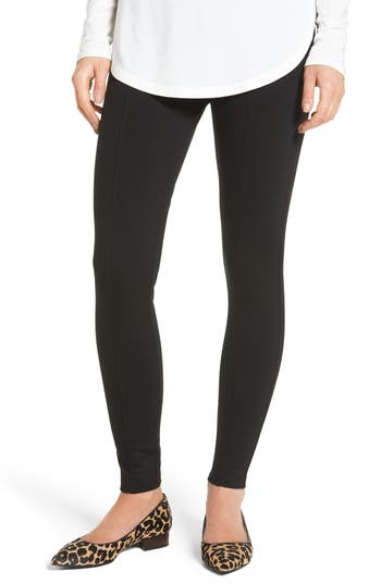 Halogen Seamed Leggings, Black