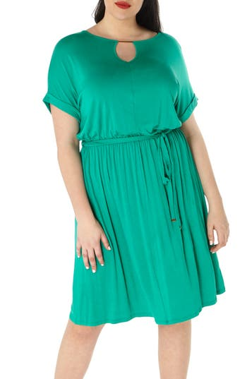 Plus Size Women's Dorothy Perkins Jersey Dress, Size 16W US / 20 UK - Green