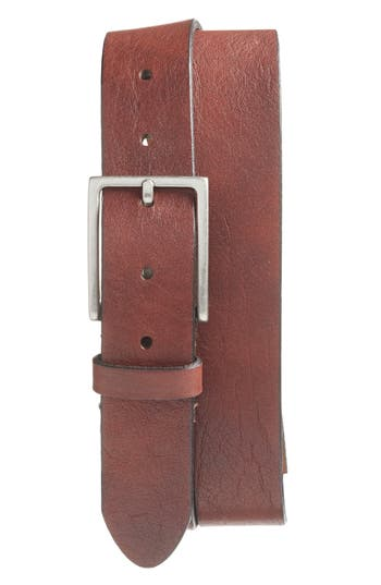 Bosca The Sicuro Leather Belt, Dark Brown