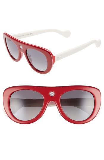 Women's Moncler 51Mm Polarized Two-Tone Geometric Sunglasses -