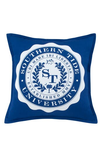Southern Tide Skipjack Chino University Accent Pillow, Size One Size - Blue