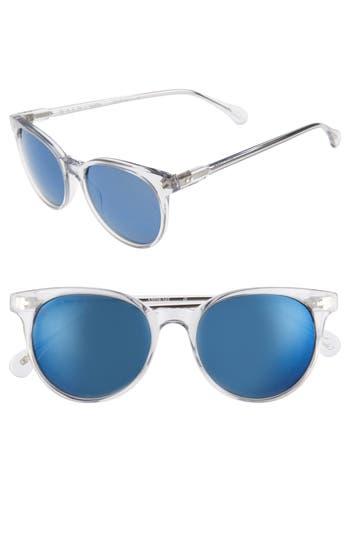 Women's Raen Norie 51Mm Cat Eye Mirrored Lens Sunglasses - Artic Crystal