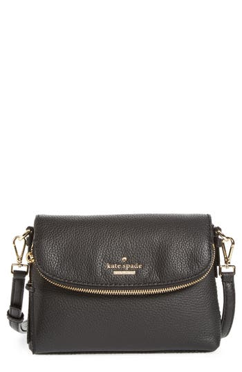 Kate Spade New York Jackson Street Harlyn Leather Crossbody Bag - Black