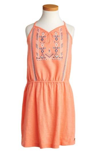 Girl's Roxy Nice Cream Embroidered Dress