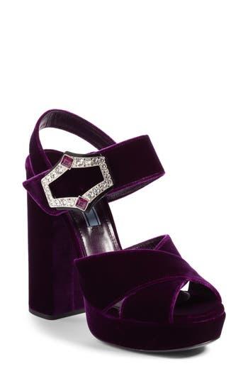Women's Prada Criss Cross Platform Sandal