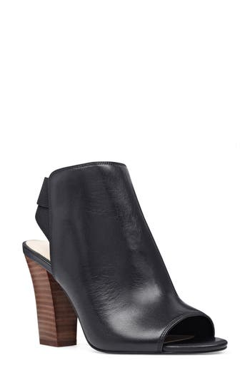 Nine West Zofee Peep Toe Bootie, Black