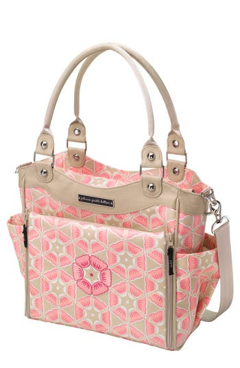 Infant Girl's Petunia Pickle Bottom 'City Carryall' Glazed Canvas Diaper Bag - Pink