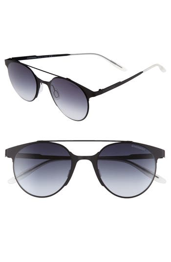 Carrera Eyewear 50Mm Gradient Round Sunglasses - Matte Black
