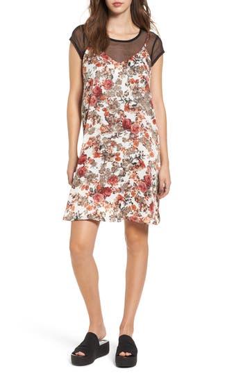 Women's Bp. Layered Mesh Tee & Floral Slipdress