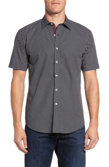 Men's Bugatchi Shaped Fit Spot Grid Sport Shirt