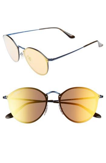 Ray-Ban 5m Round Sunglasses - Blue/ Dark Orange Mirror