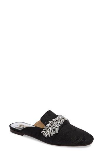 Women's Badgley Mischka Kana Embellished Loafer Mule, Size 6.5 M - Black