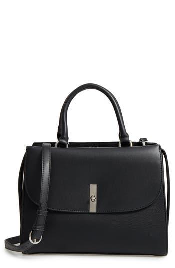 Chelsea28 Morgan Convertible Faux Leather Satchel - Black