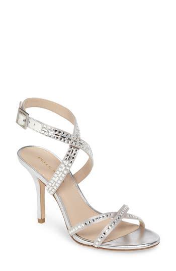 Pelle Moda Katya Embellished Sandal, Grey