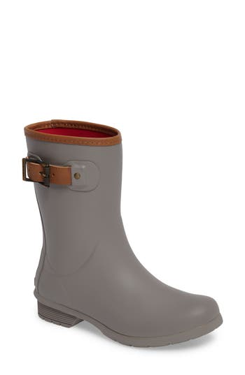 Chooka City Solid Mid Height Rain Boot, Grey