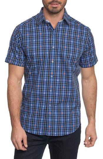Men's Robert Graham Campfire Embroidered Check Sport Shirt