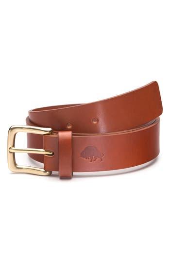 Ezra Arthur No. 1 Leather Belt, Cognac