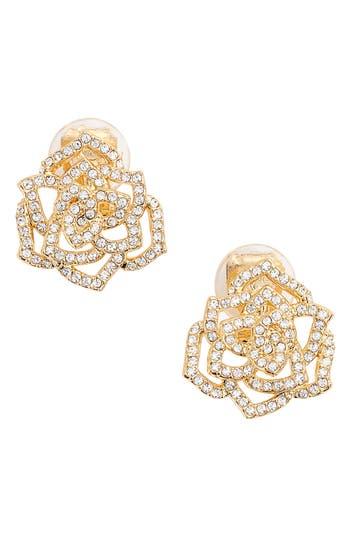 Women's Nadri Rose Clip-On Stud Earrings