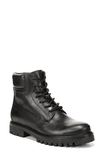 Vince Farley Platform Combat Boot, Black