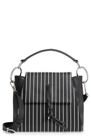 3.1 Phillip Lim Leigh Stripe Top Handle Leather Satchel -
